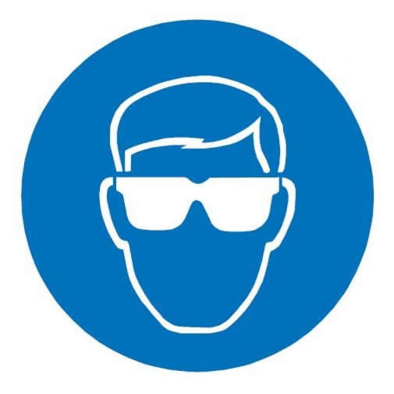Eye Protection Symbol Blue Sign Ac Leigh