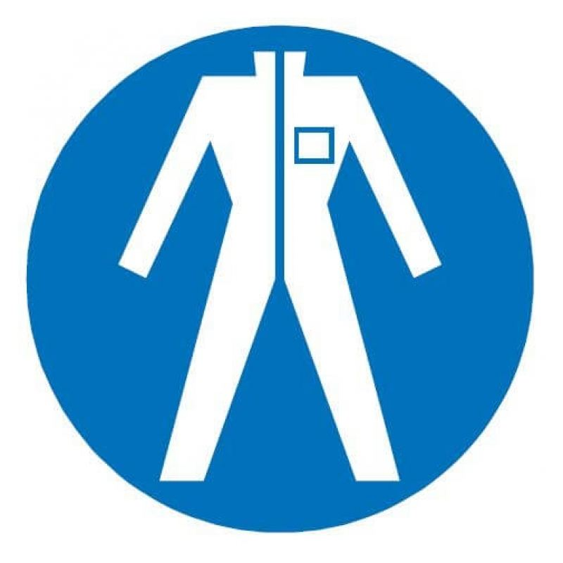 Protective Clothing Symbol Blue Sign | AC Leigh